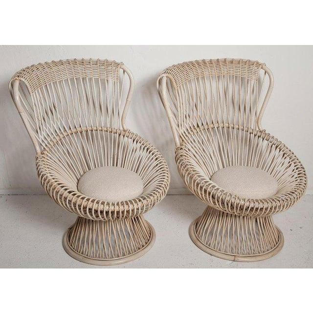 Italian Restored Pair of 1950s Margherita Chairs by Franco Albini for Vittorio Bonacino For Sale - Image 3 of 9