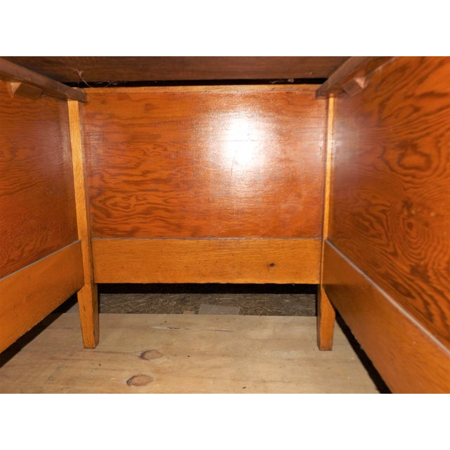 1960s Rustic Oak Writing Desk For Sale - Image 9 of 10