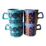 Image of Mid Century Modern Coffee Cups - Set of 4 For Sale