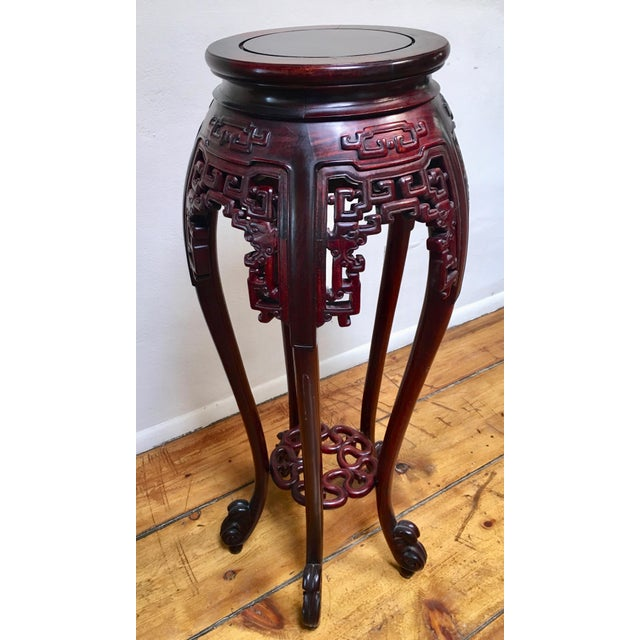 Chinese 1940s Chinese Rosewood Pedestal Table For Sale - Image 3 of 7