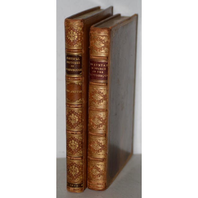 Early 19th Century Leather-Bound Books With Engravings by Rowlandson - a Pair For Sale - Image 13 of 13