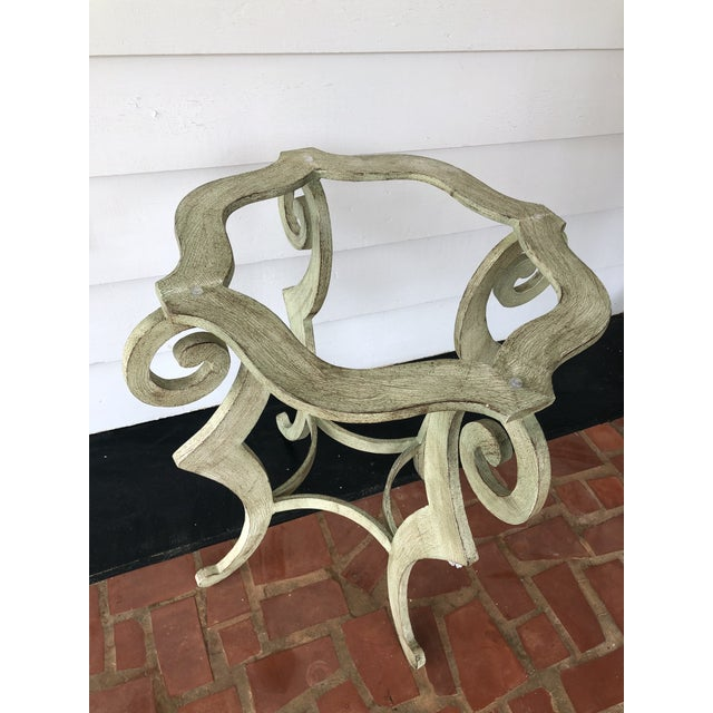 Early 21st Century Drexel Heritage Metal Scroll Side Table For Sale - Image 5 of 8