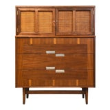 Image of American of Martinsville Walnut and Aluminum Dresser For Sale