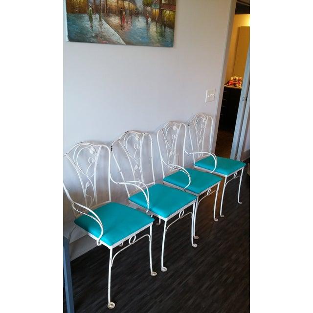 John Salterini Salterini Magnolia Group Iron Chairs - Set of 4 For Sale - Image 4 of 8