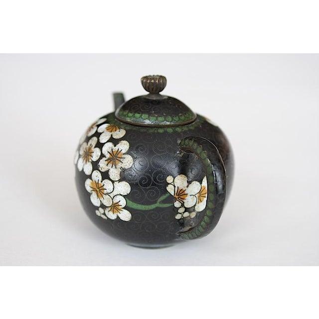Antique Miniature Japanese Cloisonne Teapot For Sale - Image 11 of 13