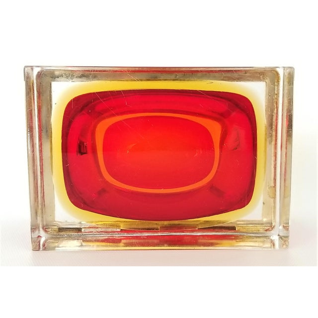 Murano Vintage 1970s Glass Jewelry Box by Alessandro Mandruzzato-Mid Century Modern MCM Hollywood Regency Italy Italian Bowl Vase For Sale - Image 12 of 13
