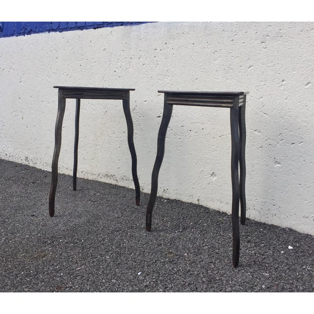 Postmodern Will Stone Handmade Steel Side Tables - a Pair For Sale - Image 10 of 10