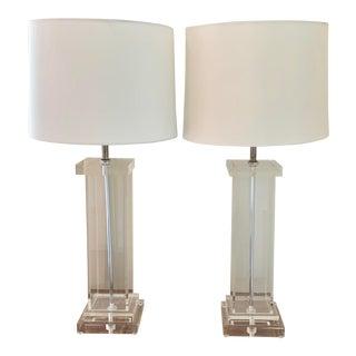 Vintage Lucite Lamps - a Pair For Sale
