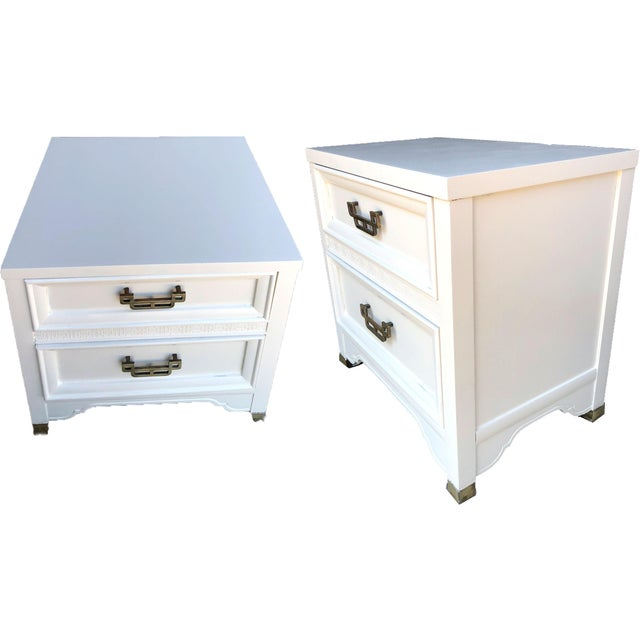 Mid-Century Modern 1960s Henry Link Mandarin Collection Chinoiserie Nightstands - a Pair For Sale - Image 3 of 9