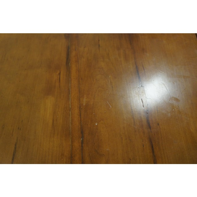 Early American 1900s Early American Style Solid Pine Drop Leaf Dining Table For Sale - Image 3 of 13