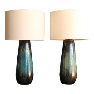 Pair of Drip Glaze Cermic For Sale