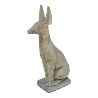 Seated Pharaoh Dog Statue For Sale