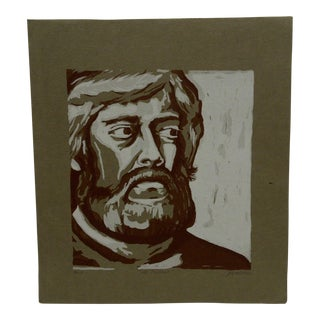 """1972 Limited Edition """"Self-Portrait"""" Signed Numbered (2/10) Print by Sebastian"""