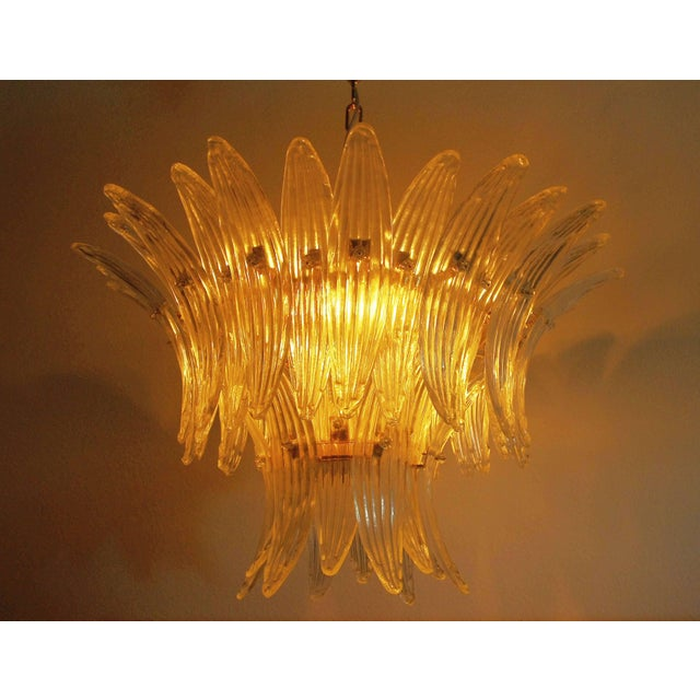 Gold Fabio Ltd Tropicana Palmette Chandelier For Sale - Image 8 of 9
