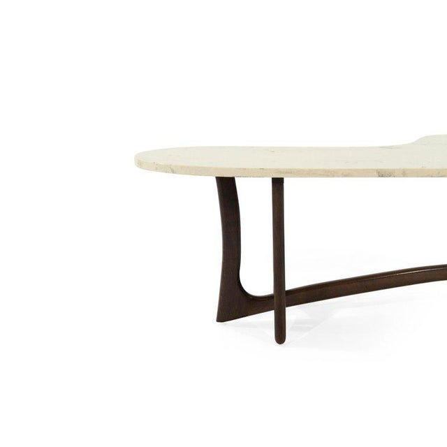 1950s Asymmetric Marble-Top Coffee Table by Adrian Pearsall For Sale In New York - Image 6 of 10