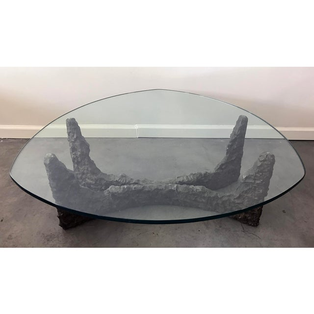 Paul Evans Style Bronze Brutalist Coffee Table For Sale - Image 4 of 9