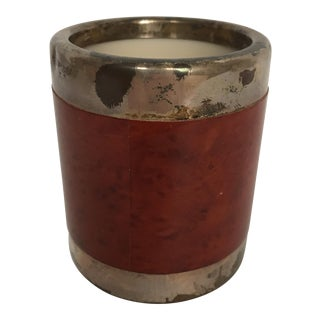 Silver and Wood Dice Cup For Sale