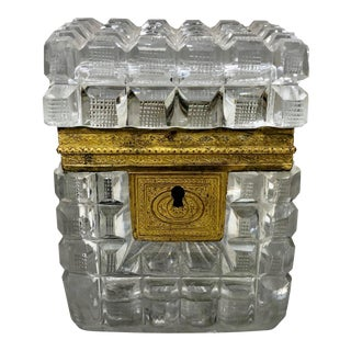 Early 19th Century Neo Classical French Baccarat Crystal Box For Sale