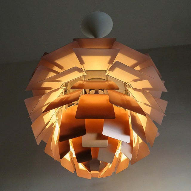 Copper 1950s Large Ph Artichoke Copper Lamp by Poul Henningsen For Sale - Image 8 of 11