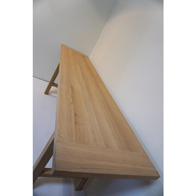 Bohemian Works Natural Wood Extra Long Console Table For Sale - Image 4 of 9