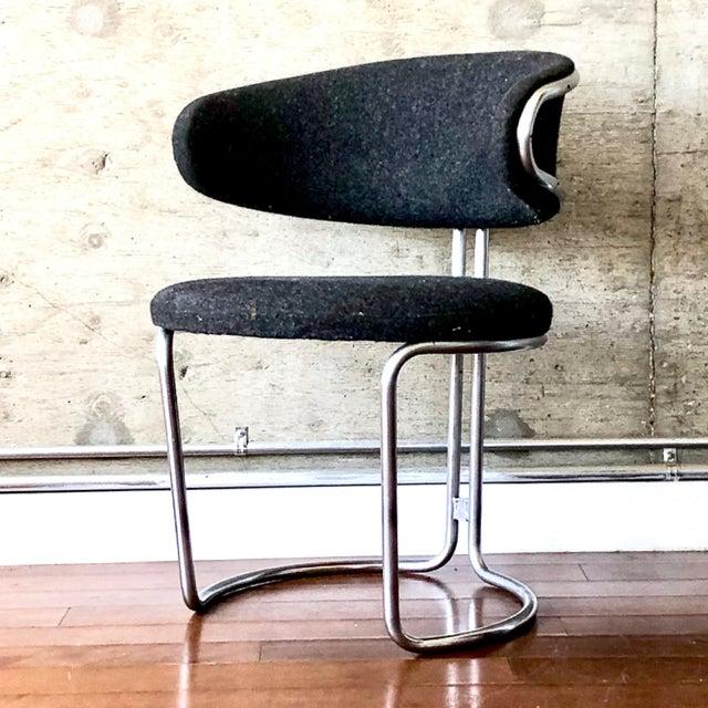 Vintage Barrel Back Modernist Chair For Sale - Image 9 of 9
