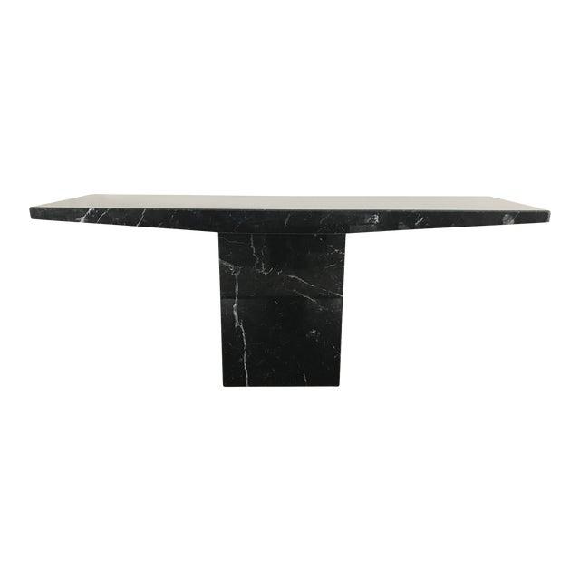 1960s Stone International for Ello Black Marble Pedestal Console For Sale