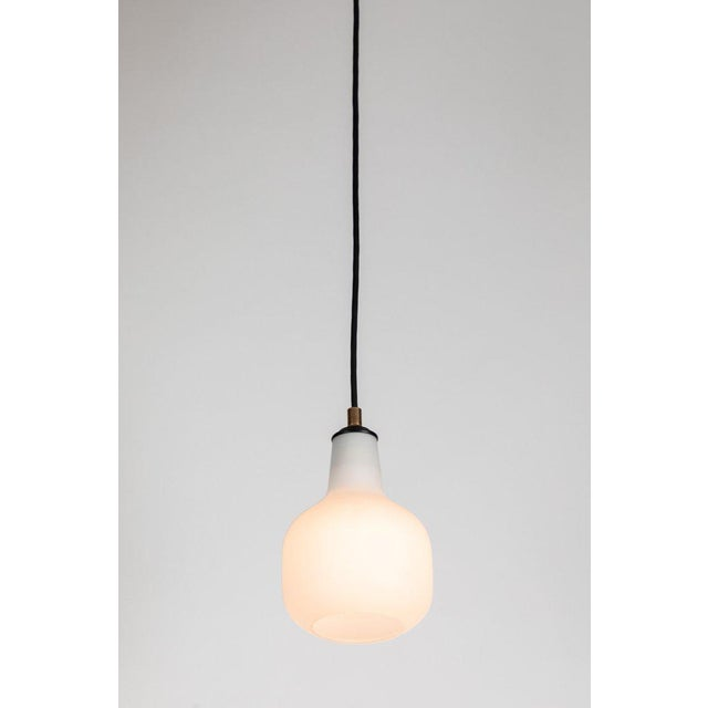 1950s Italian Glass Pendants Attributed to Stilnovo For Sale In Los Angeles - Image 6 of 13
