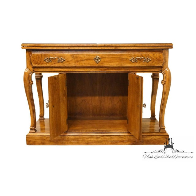 "Late 20th Century Thomasville Furniture Place Vendome Collection 45"" Flip-Top Server Buffet For Sale - Image 5 of 13"