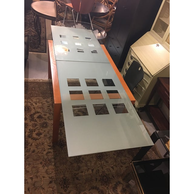 Ligne Roset Extensia Cherry & Glass Dining Table For Sale - Image 10 of 10