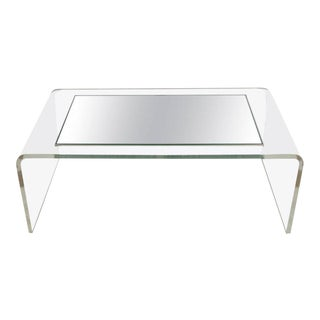 Modern Lucite Waterfall Coffee Table, 1970s For Sale