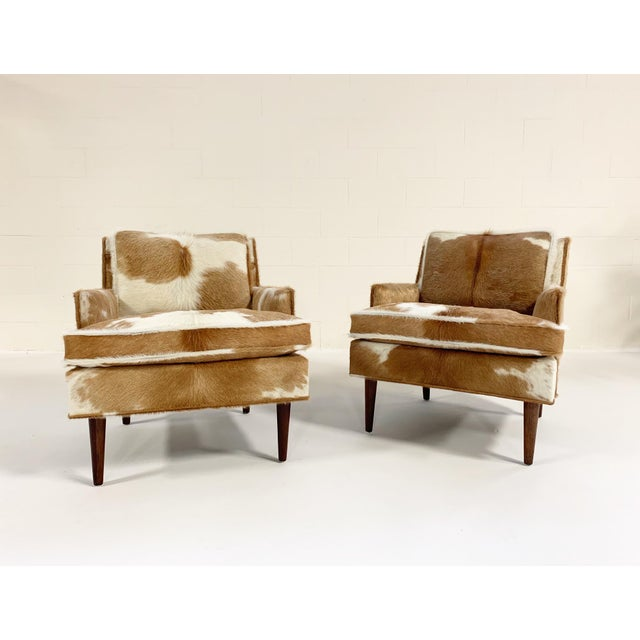 Flair Inc. Lounge Chairs Restored in Brazilian Cowhide - Pair For Sale - Image 10 of 10