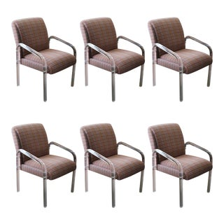 Lion in Frost Acrylic Dining Armchairs, Set of 6 For Sale