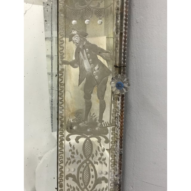 Early 19th Century 19th Century Antique Italian Venetian Mirror For Sale - Image 5 of 12
