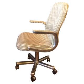 Mid-Century Aluminum Swivel Office Chair For Sale
