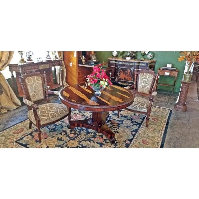 Brass 19c British Regency Tilt Top Center Table - Quality For Sale - Image 7 of 10