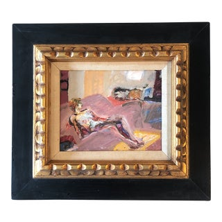 Original Vintage Abstract Female Nude Painting Lucy Gluck For Sale