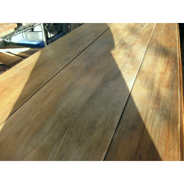 Grand Antique Farm Kitchen Table, 10' Length - Image 7 of 9