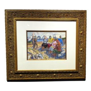 Russian Gouache . cir 1950-60's For Sale