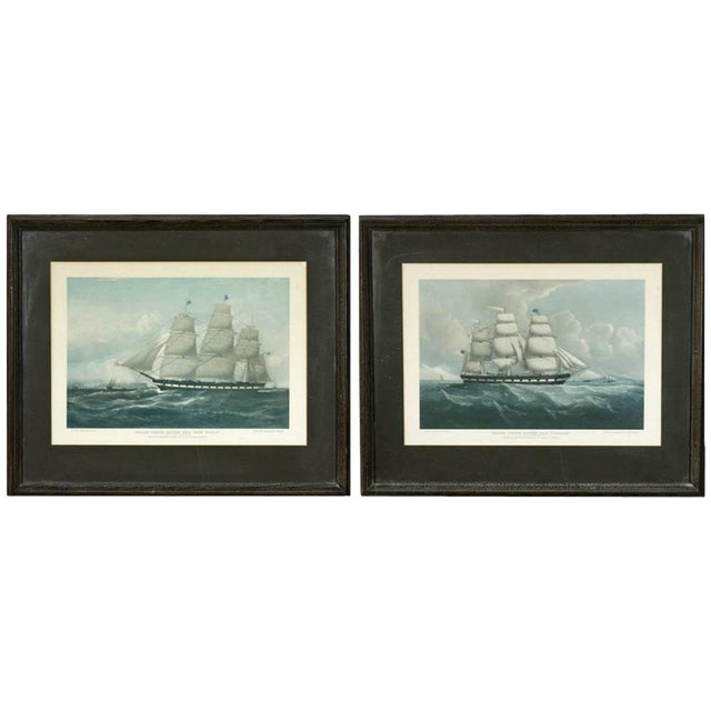 United States Packet Ship Nautical Prints - A Pair - Image 1 of 11