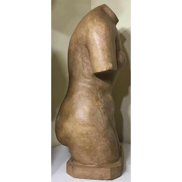 Vintage Marble Female Torso Statue For Sale In Miami - Image 6 of 11