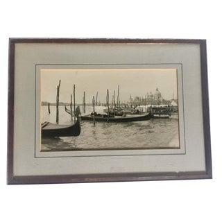 1932 Framed Venice Photograph For Sale