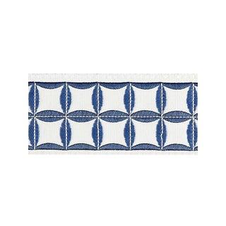 Scalamandre Fiori Embroidered Tape, Delft For Sale