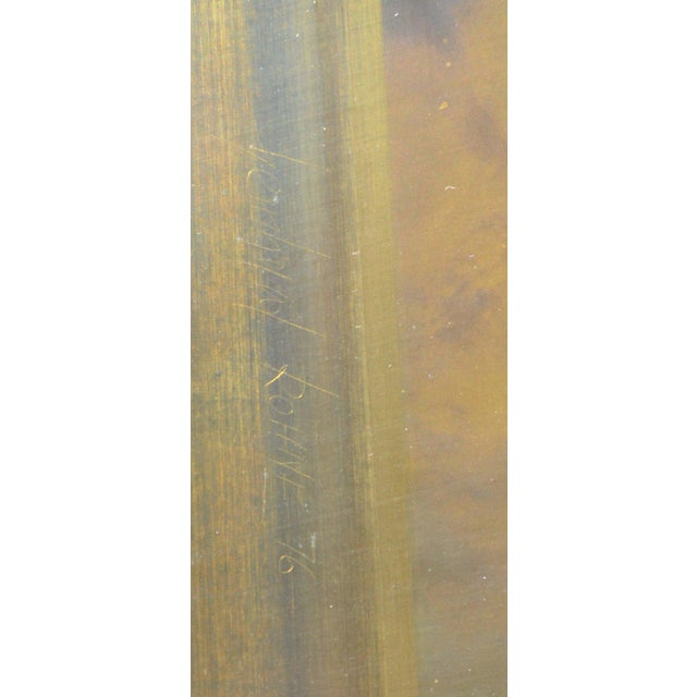 Bernhard Rohne Bernhard Rohne Brass Acid Etched Wall Art For Sale - Image 4 of 11