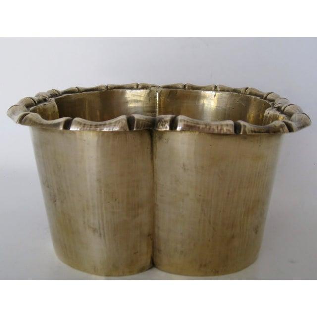 Handmade Brass Clover Console Bowl - Image 4 of 8