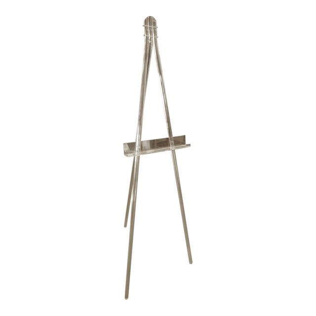 Mid-Century Acrylic Lucite Tripod Easel - Image 1 of 4