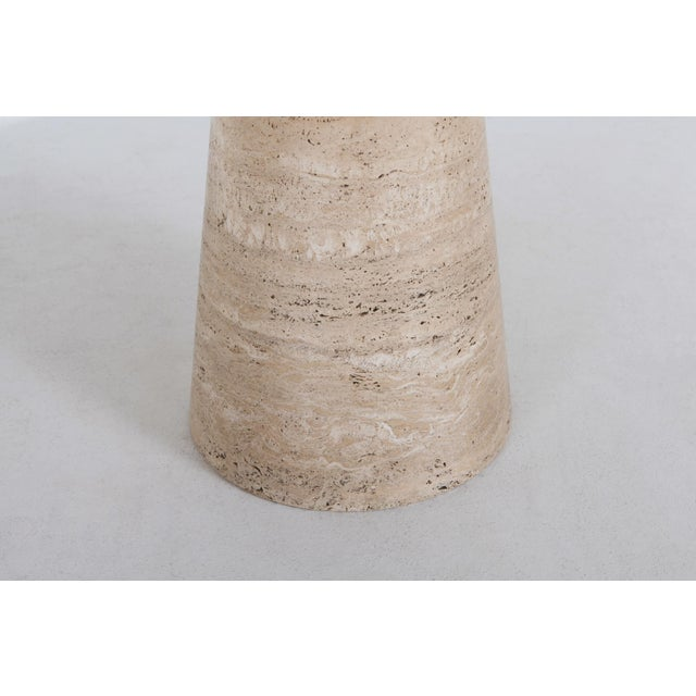 Angelo Mangiarotti Round Travertine Dining Table For Sale - Image 9 of 10