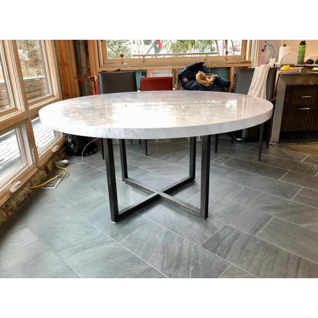 Modern Restoration Hardware Marble Dining Table