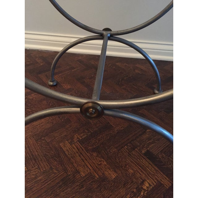 Brass & Iron Savonarola Side Chair For Sale In Chicago - Image 6 of 9