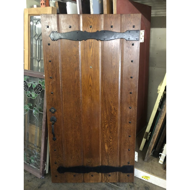 1930s Spanish Revival Style Front Entry Door For Sale - Image 13 of 13