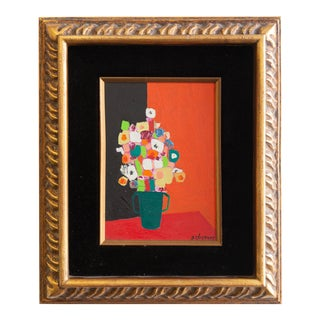 1960's Nat Charney Acrylic on Board Still Life For Sale